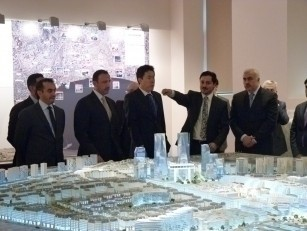 """Dubay Əmiri Administrasiyasının rəhbərinin başçılıq etdiyi nümayəndə heyəti """"Bakı Ağ şəhər"""" layıhəsinin investisiya imkanları ilə tanış olmuşdur"""
