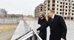 Президент Ильхам Алиев ознакомился с ходом строительства Baku White City