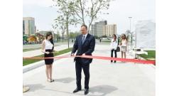 Президент Ильхам Алиев принял участие в открытии бульвара Baku White City
