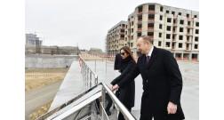 Президент Ильхам Алиев ознакомился с ходом строительства в Baku White City