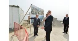 Ильхам Алиев ознакомился с работой, ведущейся на бакинском бульваре «Белый город»