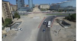 The construction of the pedestrian crossing at Baku White City is completing