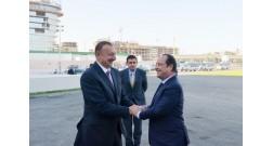 Президент Азербайджана Ильхам Алиев и Президент Франции Франсуа Олланд ознакомились со строительством французского лицея в рамках проекта Bakı Ağ Şəhər