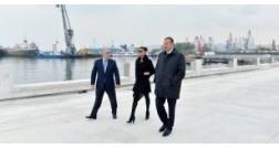 """İlham Əliyev """"Bakı Ağ şəhər"""" bulvarında görülən tikinti işlərinin gedişi ilə tanış olmuşdur"""
