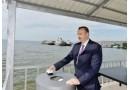 Prezident İlham Əliyev Bakıda Ağ Şəhər bulvarının təməlqoyma mərasimində iştirak edib