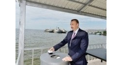 President Ilham Aliyev lays foundation stone for Baku White City Boulevard