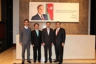 "Korean delegation led by the chairperson of South-Korean company ""Halla Group"" visited the project Baku White City"