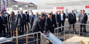 Ilham Aliyev and French President Nicolas Sarkozy attended a foundation-laying ceremony for the French Lyceum in Baku