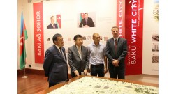 The president of the Japanese company Kosugi Zohen Co visited Baku White City project