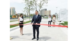 President Ilham Aliyev attended the opening of the Baku White City boulevard