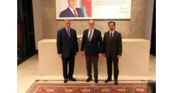 Prince Albert II of Monaco views Baku White City project