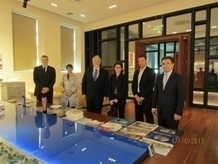 Делегация посольства Франции в Азербайджане посетила офис проекта Bakı Ağ Şəhər.