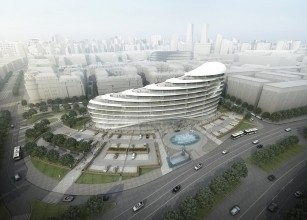 The construction of one of the iconic buildings of Baku White City project has begun.