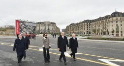 President Ilham Aliyev viewed works done in Baku White City