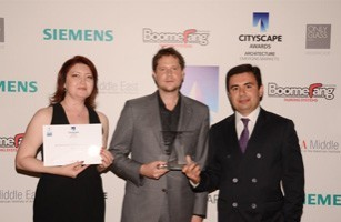 "Baku White City won ""The Best Masterplanning Award"" of Cityscape Global 2011"