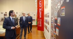"Prince Albert II of Monaco views ""Baku White City"" project"
