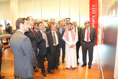 Saudi Minister of Commerce and Industry visits Baku White City