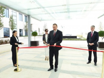 "President Ilham Aliyev attended the opening of ""Bulvar Hotel"""