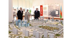 Ilham Aliyev reviewed Baku White City Office Building