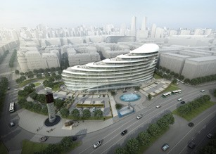 The construction of the next building on the territory of Baku White City has started.