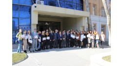 """Participants of """"Winter School-2021"""" of the Azerbaijan University of Architecture and Construction got acquainted with Baku White City"""