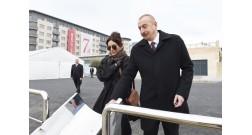 President Ilham Aliyev attended opening of several facilities in Baku White City