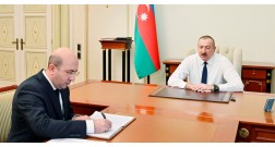"President Ilham Aliyev: ""The removal of Black City and the creation of environmentally friendly White City in its place is yet another historic achievement of ours."""