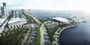 The conceptual master plan for the Port District within Baku White City Project has been completed.