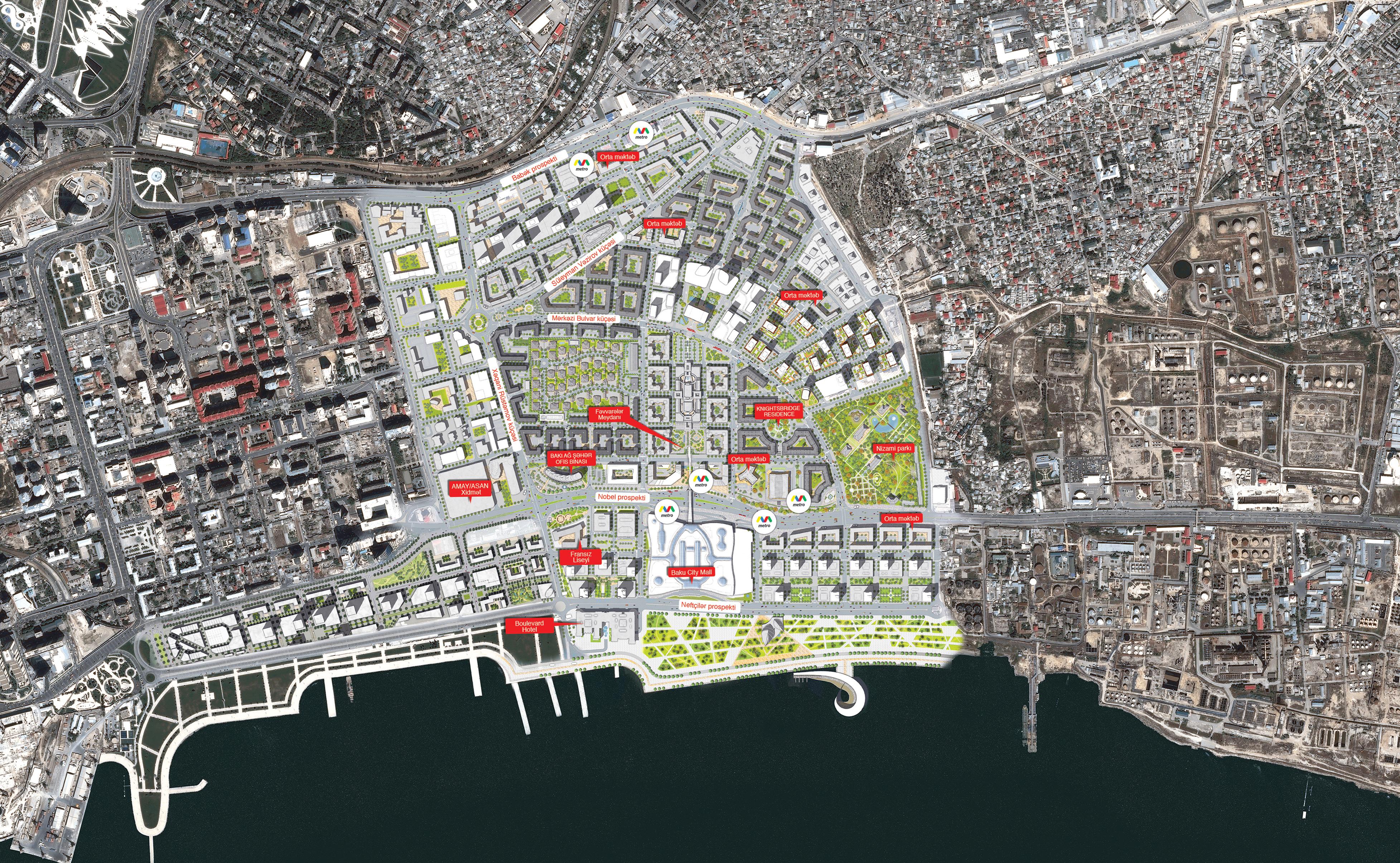 Завершено градостроительное проектирование в квартале площадью 28 га на западе Baku White City